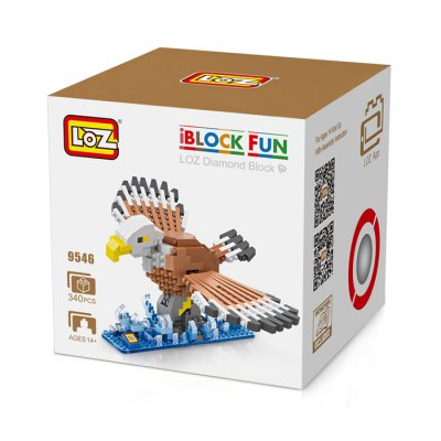 LOZ Eagle Style Cartoon ABS Building Brick - 340pcsBlock Toys<br>LOZ Eagle Style Cartoon ABS Building Brick - 340pcs<br><br>Brand: LOZ<br>Completeness: Semi-finished Product<br>Gender: Unisex<br>Materials: ABS<br>Package Contents: 340 x Module, 1 x Operation Instruction<br>Package size: 8.50 x 8.50 x 8.50 cm / 3.35 x 3.35 x 3.35 inches<br>Package weight: 0.1000 kg<br>Product size: 11.00 x 5.00 x 7.00 cm / 4.33 x 1.97 x 2.76 inches<br>Product weight: 0.0700 kg<br>Stem From: China<br>Theme: Animals