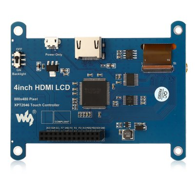 DIY Waveshare 4 inch HDMI LCD Display ModuleLCD,LED Display Module<br>DIY Waveshare 4 inch HDMI LCD Display Module<br><br>Brand: Waveshare<br>Package Contents: 1 x HDMI LCD Module, 1 x HDMI Connector, 1 x Touch Pen, 1 x Screw Pack, 1 x DVD<br>Package Size(L x W x H): 15.00 x 14.00 x 5.00 cm / 5.91 x 5.51 x 1.97 inches<br>Package weight: 0.175 kg<br>Product Size(L x W x H): 9.80 x 7.60 x 1.90 cm / 3.86 x 2.99 x 0.75 inches<br>Product weight: 0.063 kg<br>Raspberry Pi Type: Led Display<br>Type: Waveshare HDMI LCD Display Module