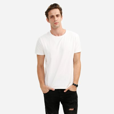 ZANSTYLE Cotton T-shirt Crew Neck for Men