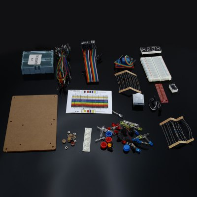 GPIO Electronic Starter Kit for Raspberry Pi 3 / 2 / B+