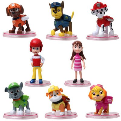 Animation Game Action Figure ABS + PVC Model - 8pcs