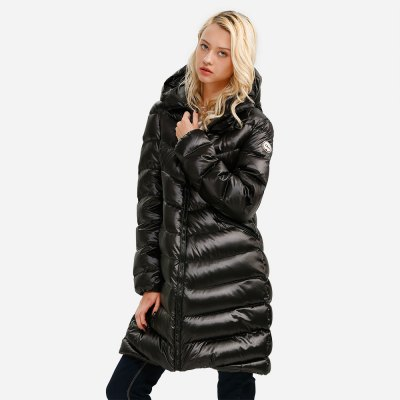 ZANSTYLE Women Black Long Down Jacket