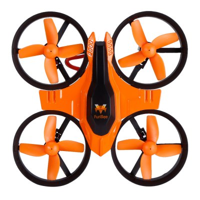 FuriBee F36 2.4GHz 4CH 6 Axis Gyro RC QuadcopterRC Quadcopters<br>FuriBee F36 2.4GHz 4CH 6 Axis Gyro RC Quadcopter<br><br>Battery: 3.7V 150mAh<br>Brand: FuriBee<br>Channel: 4-Channels<br>Charging Time.: 30 - 50 minutes<br>Detailed Control Distance: 30m<br>Features: Radio Control<br>Flying Time: 5~6mins<br>Functions: Speed up, Turn left/right, Up/down, With light, Sideward flight, One Key Automatic Return, Headless Mode, 3D rollover<br>Kit Types: RTF<br>Level: Beginner Level<br>Model: F36<br>Model Power: 1 x Lithium battery(included)<br>Motor Type: Brushed Motor<br>Package Contents: 1 x RC Quadcopter, 1 x Transmitter, 4 x Propeller, 1 x USB Cable, 1 x Screw Driver, 1 x English User Manual<br>Package size (L x W x H): 14.00 x 9.00 x 11.00 cm / 5.51 x 3.54 x 4.33 inches<br>Package weight: 0.230 kg<br>Product size (L x W x H): 9.50 x 9.50 x 5.00 cm / 3.74 x 3.74 x 1.97 inches<br>Product weight: 0.022 kg<br>Remote Control: 2.4GHz Wireless Remote Control<br>Size: Mini<br>Transmitter Power: 3 x AAA battery(not included)<br>Type: Quadcopter, Toy, Indoor, Outdoor<br>Wheelbase: 70mm