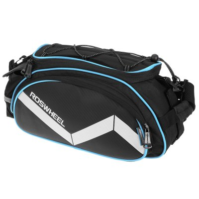 ROSWHEEL D14541 14L Multifunctional Bike Rear Pannier BagBike Bags<br>ROSWHEEL D14541 14L Multifunctional Bike Rear Pannier Bag<br><br>Brand: Roswheel<br>Emplacement: Rear Rack<br>Material: PVC, Polyester<br>Model Number: D14541<br>Package Contents: 1 x ROSWHEEL D14541 14L Bike Rear Pannier Bag<br>Package Dimension: 55.00 x 22.00 x 5.00 cm / 21.65 x 8.66 x 1.97 inches<br>Package weight: 0.590 kg<br>Product Dimension: 43.00 x 21.00 x 18.00 cm / 16.93 x 8.27 x 7.09 inches<br>Product weight: 0.550 kg<br>Suitable for: Touring Bicycle, Fixed Gear Bicycle, Cross-Country Cycling, Road Bike, Mountain Bicycle