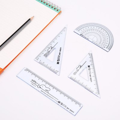MG ChenGuang MF9601 Geometry Ruler for Students 4PCS
