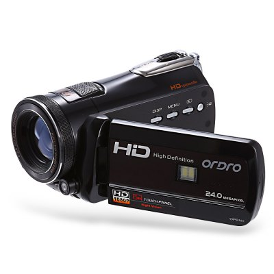 ORDRO D395 WiFi 24MP 18X Digital Zoom DV CameraCamcorders<br>ORDRO D395 WiFi 24MP 18X Digital Zoom DV Camera<br><br>Brand: Ordro<br>Pixel: 2400W<br>Screen size (inch): 3<br>Touch screen: Yes<br>Memory support : SD card<br>Storage medium: Flash memory DV<br>Internal memory storage: 128MB<br>External memory storage(Maximum, not included): SD card up to 64GB<br>Screen type: LCD<br>Screen size: 3.0 inch<br>Screen resolution: 1280 x 720 (HD 720),1920 x 1080 (FHD),640 x 480 (VGA)<br>Sensor: CMOS<br>Image resolutions: 1920 x 1080 (2MP HD),2048 x 1536 (3MP),2592 x 1944 (5MP),3648 x 2048 (7MP HD),3648 x 2736 (10MP),4000 x 3000 (12MP),5200 x 3900 (20MP),5600 x 4200 (24MP),640 x 480 (VGA)<br>Video Resolution: 1280 x 720,1920 x 1080,640 x 480<br>Video Frame Rate: 30FPS,60FPS<br>Digital zoom: 18X<br>Function mode: Capture,Playback,Video<br>LED light: 2pcs<br>Aperture: F/2.6, f=3.8mm<br>FOV: 90 degrees<br>Sensitivity: Auto<br>White Balance: Automatic,Cloudy,Daylight,Florescent light,Sunlight,Tungsten light<br>File format: JPEG<br>ISO: 100,200,400,Auto<br>Exposure Compensation: -3.0~3.0<br>Self-timer: 10s,2s,5s<br>TV System : NTSC,PAL<br>Language: Dutch,English,French,German,Italian,Japanese,Polski,Portuguese,Russian,Simplified Chinese,Spanish,Traditional Chinese,Turkish<br>Microphone: Built-in<br>Loudspeaker: Built-in<br>Interface: AV interface,HDMI port,SD Card Slot,USB interface<br>Other Functions: AV out,Continuous mode,DIS intelligent anti-shake,Face Detection,Playback,Remote Control<br>System requirement: Windows XP / Vista / 7 / 8 / 10<br>Frequency: 50Hz,60Hz<br>Auto power off: Yes<br>Power Sources: 1pc removable battery<br>Battery Capacity (mAh?: 1700mAh<br>Working Time: About 2h<br>Standby time: 20 days ( power off )<br>Charging time: 3h<br>Product weight: 0.406 kg<br>Package weight: 0.878 kg<br>Product size (L x W x H): 13.00 x 8.00 x 7.00 cm / 5.12 x 3.15 x 2.76 inches<br>Package size (L x W x H): 20.00 x 16.00 x 10.00 cm / 7.87 x 6.3 x 3.94 inches<br>Package Contents: 1 x DV Camera, 1 x Battery, 1 x Battery Charger, 1 x USB Cable, 1 x Power Adapter, 1 x HDMI Cable, 1 x Remote Controller, 1 x Carrying Bag, 1 x Chinese / English User Manual, 1 x Camera Lens Cap/ Cove