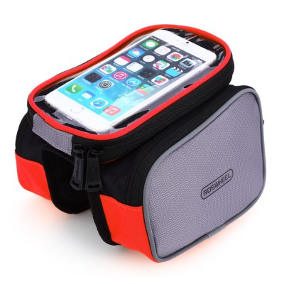 ROSWHEEL D12813 2L Touch Screen Bike Front Tube BagBike Bags<br>ROSWHEEL D12813 2L Touch Screen Bike Front Tube Bag<br><br>Brand: Roswheel<br>Emplacement: Front Tube<br>Material: PVC, Polyester<br>Model Number: D12813<br>Package Contents: 1 x ROSWHEEL D12813 2L Touch Screen Bike Front Tube Bag<br>Package Dimension: 20.00 x 12.00 x 8.00 cm / 7.87 x 4.72 x 3.15 inches<br>Package weight: 0.245 kg<br>Product weight: 0.207 kg<br>Suitable for: Touring Bicycle, Fixed Gear Bicycle, Cross-Country Cycling, Road Bike, Mountain Bicycle