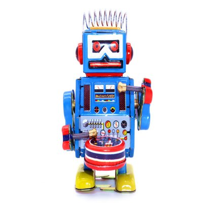 Classical Robot Style Clockwork Tin Education Toy