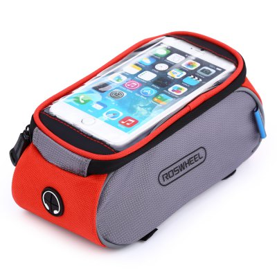 ROSWHEEL D12496 - X Bicycle Font Tube BagBike Bags<br>ROSWHEEL D12496 - X Bicycle Font Tube Bag<br><br>Brand: Roswheel<br>Model Number: D12496 - X<br>Suitable for: Cross-Country Cycling,Fixed Gear Bicycle,Mountain Bicycle,Road Bike,Touring Bicycle<br>Color: Blue,Red<br>Emplacement: Front Tube<br>Product weight: 0.148 kg<br>Package weight: 0.180 kg<br>Product Dimension: 20.50 x 10.00 x 10.00 cm / 8.07 x 3.94 x 3.94 inches<br>Package Dimension: 25.00 x 11.00 x 11.00 cm / 9.84 x 4.33 x 4.33 inches<br>Package Contents: 1 x ROSWHEEL D12496 - X 6.0 inch 1.5L Touch Screen Bicycle Font Tube Bag