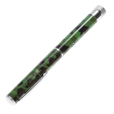 UltraFire 5mw 532nm Green Starry LED Laser PointerUltraFire 5mw 532nm Green Starry LED Laser Pointer<br><br>Brand: Ultrafire<br>Type: Laser Pointer<br>Material: Aluminum Alloy<br>Application: Office and Teaching,Outdoor Sport,Party<br>Laser Color: Green<br>Wavelength (nm): 532<br>Body Color: Black,Camouflage,Silver<br>Battery included: No<br>Battery Type: AAA<br>Number of Batteries: 2<br>Output Power (W): 5wm<br>Working Voltage: 3V<br>Working Current: 450mA or less<br>Body Shape: Pen Shape<br>Product weight: 0.032 kg<br>Package weight: 0.096 kg<br>Product size (L x W x H): 16.50 x 1.40 x 1.40 cm / 6.5 x 0.55 x 0.55 inches<br>Package size (L x W x H): 18.00 x 5.80 x 2.50 cm / 7.09 x 2.28 x 0.98 inches<br>Package Content: 1 x UltraFire LED Laser Pointer