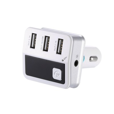 Car Charger Bluetooth with Three USB Ports