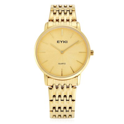 EYKI Fashion Men Ultra-thin Thread Pattern Dial Quartz WatchMens Watches<br>EYKI Fashion Men Ultra-thin Thread Pattern Dial Quartz Watch<br><br>Available Color: Gold,Gold and Silver,Silver<br>Band material: Stainless Steel<br>Band size: 22 x 1.8 cm / 8.66 x 0.71 inches<br>Brand: Eyki<br>Case material: Stainless Steel<br>Clasp type: Folding clasp with safety<br>Dial size: 4 x 4 x 0.6 cm / 1.57 x 1.57 x 0.24 inches<br>Display type: Analog<br>Movement type: Quartz watch<br>Package Contents: 1 x EYKI Fashion Men Quartz Watch, 1 x Box<br>Package size (L x W x H): 8.50 x 8.00 x 5.00 cm / 3.35 x 3.15 x 1.97 inches<br>Package weight: 0.147 kg<br>Product size (L x W x H): 22.00 x 4.00 x 0.60 cm / 8.66 x 1.57 x 0.24 inches<br>Product weight: 0.087 kg<br>Shape of the dial: Round<br>Watch style: Fashion<br>Watches categories: Male table
