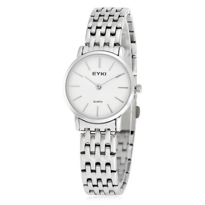 EYKI Fashion Lady Ultra-thin Thread Pattern Dial Quartz Watch