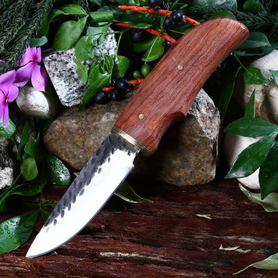 High-carbon Steel Fixed Blade Knife with Sheath
