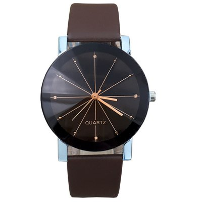 Geometric Ray Artificial Leather Watch