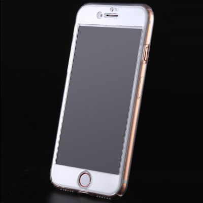 Transparent PC Case Tempered Glass Film Kit for iPhone 7