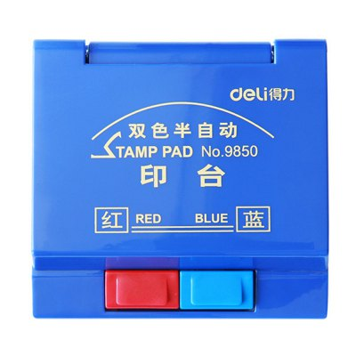 Deli 9850 Stamp PadOther Supplies<br>Deli 9850 Stamp Pad<br><br>Brand: Deli<br>Product weight: 0.097 kg<br>Package weight: 0.130 kg<br>Package size (L x W x H): 11.00 x 10.80 x 2.80 cm / 4.33 x 4.25 x 1.1 inches<br>Package Contents: 1 x Deli 9850 Stamp Pad