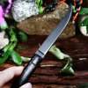 No Lock Stainless Steel Folding Knife with Bamboo Joint Handle deal