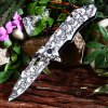 Patterned Liner Lock Folding Knife with Aluminum Alloy Handle