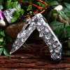 Patterned Liner Lock Folding Knife with Aluminum Alloy Handle deal