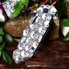 Patterned Liner Lock Folding Knife with Aluminum Alloy Handle for sale