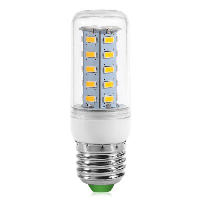 E27 36 x SMD 5730 Daylight LED Corn Light 18W 220V Energy Saving BulbCorn Bulbs<br>E27 36 x SMD 5730 Daylight LED Corn Light 18W 220V Energy Saving Bulb<br><br>Appearance: Clear shade<br>Available Light Color: Cold White,Warm White<br>Bulb Base Type: E27<br>CCT/Wavelength: 3000-3500K,6000-6500K<br>Emitter Type: SMD-5730 LED<br>Features: Low Power Consumption, Long Life Expectancy, Energy Saving<br>Function: Studio and Exhibition Lighting, Commercial Lighting, Home Lighting<br>Luminous Flux: 1020Lm<br>Output Power: 18W<br>Package Contents: 1 x Corn Light<br>Package size (L x W x H): 10.00 x 3.00 x 3.00 cm / 3.94 x 1.18 x 1.18 inches<br>Package weight: 0.060 kg<br>Product weight: 0.040 kg<br>Sheathing Material: Plastic<br>Total Emitters: 36<br>Type: Corn Bulbs<br>Voltage (V): AC 220