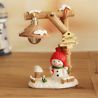Micro Snowman Landscape Toy with Night Light