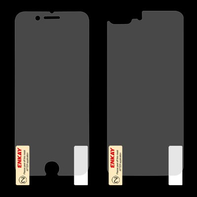 ENKAY PET HD Protective Film Kit for iPhone 7 PlusIPhone Screen Protectors<br>ENKAY PET HD Protective Film Kit for iPhone 7 Plus<br><br>Brand: ENKAY<br>Features: High sensitivity, High-definition<br>For: Cell Phone<br>Mainly Compatible with: iPhone 7 Plus<br>Material: PET<br>Package Contents: 1 x Screen Film, 1 x Back Protective Film, 1 x Wet Wipes, 1 x Cleaning Cloth, 1 x Dust Remover<br>Package size (L x W x H): 17.00 x 11.20 x 1.10 cm / 6.69 x 4.41 x 0.43 inches<br>Package weight: 0.040 kg<br>Product weight: 0.004 kg<br>Thickness: 0.1mm<br>Type: Protective Film