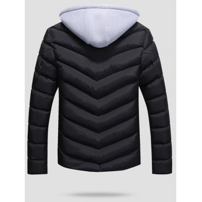 SANVIK Zipper Contrast Detachable Hood Quilted Down JacketMens Jackets &amp; Coats<br>SANVIK Zipper Contrast Detachable Hood Quilted Down Jacket<br><br>Closure Type: Zipper<br>Clothes Type: Down Coat<br>Collar: Hooded<br>Embellishment: Zippers<br>Materials: Polyester<br>Package Content: 1 x SANVIK Down Jacket<br>Package Dimension: 54.00 x 42.00 x 4.00 cm / 21.26 x 16.54 x 1.57 inches<br>Package weight: 0.790 kg<br>Pattern Type: Solid<br>Product weight: 0.380 kg<br>Seasons: Autumn,Winter<br>Shirt Length: Regular<br>Size1: 2XL,3XL,L,M,XL<br>Sleeve Length: Long Sleeves<br>Style: Casual<br>Thickness: Thickening