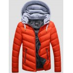 SANVIK Zipper Contrast Detachable Hood Quilted Down Jacket deal