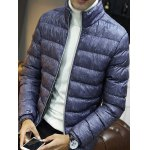 cheap Zipper Front Stand-up Color Quilted Jacket