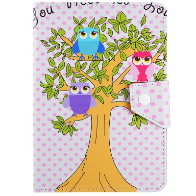 SZKINSTON Lovely Owl Style PU Leather Protective Case for 10 inch Tablet PC