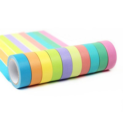 10m Creative 5PCS Colorful Paper Adhesive Tape for DIYTapes<br>10m Creative 5PCS Colorful Paper Adhesive Tape for DIY<br><br>Product weight: 0.075 kg<br>Package weight: 0.100 kg<br>Package size (L x W x H): 4.50 x 4.50 x 7.80 cm / 1.77 x 1.77 x 3.07 inches<br>Package Contents: 5 x 10m Paper Adhesive Tape