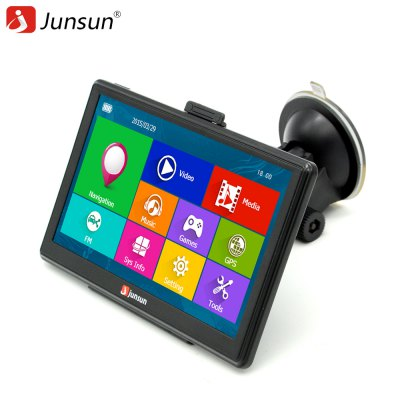 Junsun D100 Car GPS Navigator with Free MapsGPS Navigation<br>Junsun D100 Car GPS Navigator with Free Maps<br><br>Battery: 800mAh<br>Charging way: Car charger<br>Color: Black<br>CPU: ARM Cortex-A7<br>E-book: TXT<br>External memory card: TF 32G (not included)<br>Function: Touch Screen<br>Language: Bulgarian,Dutch,Finnish,French,German,Greek,Hebrew,Hungarian,Indonesian,Italian,Lithuanian,Norwegian,Polish,Portuguese,Russian,Slovak,Slovenian,Spanish,Swedish,Turkish,Ukrainian<br>Map: Europe<br>Memory: 8GB<br>Memory card support: TF card<br>Model: D100<br>Music: MP3<br>Operating system: Microsoft Windows CE 6.0<br>Package Contents: 1 x Car GPS, 1 x Car Charger, 1 x USB Cable, 1 x Suction Cup Bracket, 1 x Back Clamp, 1 x English User Manual<br>Package size (L x W x H): 24.00 x 15.70 x 11.50 cm / 9.45 x 6.18 x 4.53 inches<br>Package weight: 0.8000 kg<br>Picture: BMP,JPG,PNG<br>Port: 3.5mm AV interface,Mini USB port,TF Card Slot<br>Pre-loaded Maps: Yes<br>Product size (L x W x H): 17.50 x 10.80 x 1.50 cm / 6.89 x 4.25 x 0.59 inches<br>Product weight: 0.2500 kg<br>RAM: 256MB<br>ROM: 8G<br>Screen resolution: 800 x 480<br>Screen size: 7inch<br>Touch-screen: Yes<br>Type: GPS<br>Video: 3GP,MP4,WMV<br>Waterproof: No