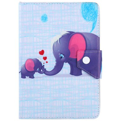 SZKINSTON Elephant Family Style PU Leather Protective Case for 10 inch Tablet PC