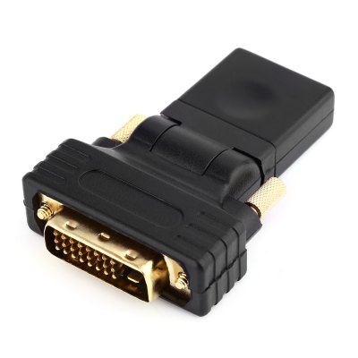 HDMI to DVI24+1 Female to Male ConverterCables &amp; Connectors<br>HDMI to DVI24+1 Female to Male Converter<br><br>Compatible with: Macbook, Notebook, Sony PS3, Xbox<br>Connector Type: DVI<br>DC Port: No<br>Interface: DVI, HDMI<br>Package Contents: 1 x HDMI to DVI24+1 Female to Male Converter<br>Package size (L x W x H): 10.00 x 7.00 x 2.05 cm / 3.94 x 2.76 x 0.81 inches<br>Package weight: 0.046 kg<br>Product size (L x W x H): 6.37 x 4.38 x 1.05 cm / 2.51 x 1.72 x 0.41 inches<br>Product weight: 0.024 kg<br>Type: Connector