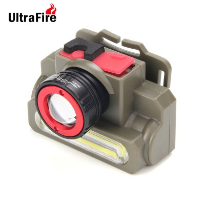 UltraFire Rechargeable Cree XPE COB LED Headlamp Zooming Function