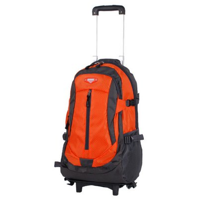 30L Nylon Removable Draw-bar Backpack Wheeled Bag