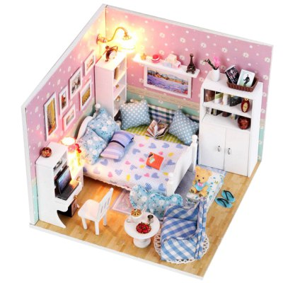 Miniature DIY House Handicraft Toy Christmas PresentOther Educational Toys<br>Miniature DIY House Handicraft Toy Christmas Present<br><br>Materials: Paper,Plastic,Wood,Other<br>Theme: Other<br>Gender: Unisex<br>Completeness: Semi-finished Product<br>Stem From: China<br>Product weight: 0.400 kg<br>Package weight: 0.450 kg<br>Product size: 21.00 x 7.00 x 19.00 cm / 8.27 x 2.76 x 7.48 inches<br>Package size: 22.00 x 10.00 x 20.00 cm / 8.66 x 3.94 x 7.87 inches<br>Package Contents: 1 x DIY House Kit, 1 x Operation Instruction