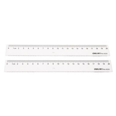 Deli 6220 2PCS 20cm RulerSchool Supplies<br>Deli 6220 2PCS 20cm Ruler<br><br>Brand: Deli<br>Product weight: 0.024 kg<br>Package weight: 0.049 kg<br>Package size (L x W x H): 24.20 x 16.00 x 0.50 cm / 9.53 x 6.3 x 0.2 inches<br>Package Contents: 2 x Deli 6220 Ruler