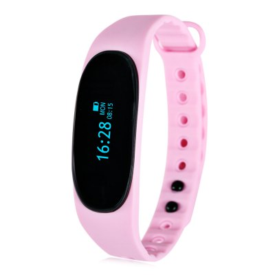 Alfawise T02 Bluetooth 4.0 Smart WristbandSmart Watches<br>Alfawise T02 Bluetooth 4.0 Smart Wristband<br><br>Bluetooth Version: Bluetooth 4.0<br>Language: Arabic,English,French,German,Japanese,Korean,Polish,Portuguese,Russian,Simplified Chinese,Spanish<br>Waterproof: Yes<br>IP rating: IP65<br>Screen type: OLED<br>Operating mode: Touch Screen<br>Compatible OS: Android,IOS<br>Compatability: Android 4.3 / iOS 7.0 and above system<br>People: Female table,Male table<br>Available Color: Black,Blue,Green,Pink<br>Type of battery: Polymer lithium battery<br>Battery Capacty: 60mAh<br>Standby time: About 5 - 7 days<br>Charging Time: About 2hours<br>Functions: Alarm Clock,Call reminder,Calories burned measuring,Camera remote control,Date,Distance recording,Incoming calls show,Notification of app,Pedometer,Remote music,Sedentary reminder,Sleep management,SMS<br>Notification type: Facebook,Twitter,Wechat<br>Alert type: Vibration<br>Shape of the dial: Rectangle<br>Case material: PC<br>Band material: TPU<br>Dial size: 4.3 x 1.8 x 1.1 cm / 1.69 x 0.71 x 0.43 inches<br>Band size: 26.5 x 1.3 cm / 10.43 x 0.51 inches<br>Wearable length: 17 - 25 cm / 6.69 - 9.84 inches<br>Product weight: 0.015 kg<br>Package weight: 0.080 kg<br>Product size (L x W x H): 26.50 x 1.80 x 1.10 cm / 10.43 x 0.71 x 0.43 inches<br>Package size (L x W x H): 14.50 x 9.50 x 2.40 cm / 5.71 x 3.74 x 0.94 inches<br>Package Contents: 1 x T02 Smart Wristband, 1 x Charging Cable, 1 x Chinese and English User Manual