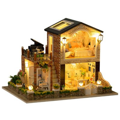 Mini DIY House Shape Art Handicraft Toy