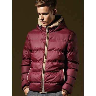 Men Hooded Quilted Down JacketMens Jackets &amp; Coats<br>Men Hooded Quilted Down Jacket<br><br>Closure Type: Zipper<br>Clothes Type: Down Coat<br>Collar: Hooded<br>Embellishment: Zippers<br>Materials: Polyester<br>Package Content: 1 x Men Hooded Down Jacket<br>Package Dimension: 40.00 x 30.00 x 8.00 cm / 15.75 x 11.81 x 3.15 inches<br>Package weight: 0.880 kg<br>Pattern Type: Solid<br>Product weight: 0.800 kg<br>Seasons: Autumn,Winter<br>Shirt Length: Regular<br>Size1: 2XL,3XL,L,M,XL<br>Sleeve Length: Long Sleeves<br>Style: Fashion<br>Thickness: Thickening