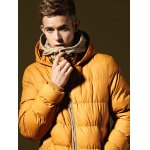 cheap Men Hooded Quilted Down Jacket