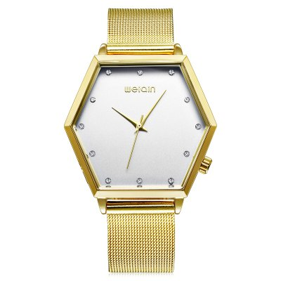 WeiQin 1185 Fashion Lady Quartz WatchWomens Watches<br>WeiQin 1185 Fashion Lady Quartz Watch<br><br>Brand: Weiqin<br>Watches categories: Female table<br>Watch style: Fashion<br>Watch color: Gold, Rose Gold + White, Gold + White, Rose Gold, Silver<br>Movement type: Quartz watch<br>Shape of the dial: Hexagon<br>Display type: Analog<br>Case material: Alloy<br>Band material: Stainless Steel<br>Clasp type: Pin buckle<br>Water resistance : Life water resistant<br>Dial size: 4 x 3.26 x 1 cm / 1.57 x 1.28 x 0.39 inches<br>Band size: 23 x 1.8 cm / 9.06 x 0.71 inches<br>Product weight: 0.058 kg<br>Package weight: 0.118 kg<br>Product size (L x W x H): 23.00 x 4.00 x 1.00 cm / 9.06 x 1.57 x 0.39 inches<br>Package size (L x W x H): 28.00 x 8.00 x 3.50 cm / 11.02 x 3.15 x 1.38 inches<br>Package Contents: 1 x WeiQin 1185 Fashion Lady Quartz Watch