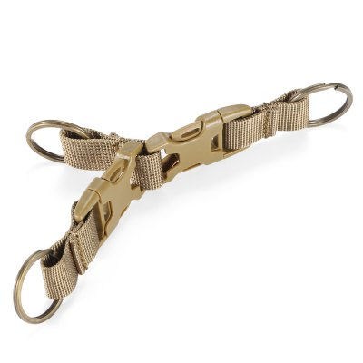 Nylon Tactical Keychain with 3 Key Rings for MOLLE System