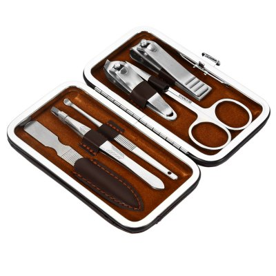 ES - 600 6 in 1 Manicure Set Pedicure Tool for HandOther Tools<br>ES - 600 6 in 1 Manicure Set Pedicure Tool for Hand<br><br>Material: Stainless Steel<br>Model: ES - 600<br>Package Contents: 1 x Large Nail Clipper, 1 x Small Nail Clipper, 1 x Nail File, 1 x Scissors, 1 x Ear Cleaner, 1 x Tweezers<br>Package size (L x W x H): 12.00 x 7.00 x 4.00 cm / 4.72 x 2.76 x 1.57 inches<br>Package weight: 0.135 kg<br>Product size (L x W x H): 10.50 x 6.00 x 2.00 cm / 4.13 x 2.36 x 0.79 inches<br>Product weight: 0.113 kg<br>Special Functions : Stainless Steel Manicure Set