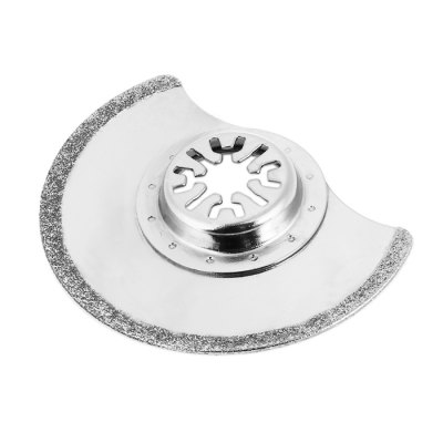 YYP - 8C8C 88mm Semicircle Oscillating Diamond Saw BladeDrill<br>YYP - 8C8C 88mm Semicircle Oscillating Diamond Saw Blade<br><br>Material: Diamond + Steel<br>Model: YYP - 8C8C<br>Package Contents: 1 x Semicircle Diamond Saw Blade<br>Package size (L x W x H): 10.00 x 10.00 x 2.00 cm / 3.94 x 3.94 x 0.79 inches<br>Package weight: 0.065 kg<br>Product size (L x W x H): 8.80 x 8.80 x 1.00 cm / 3.46 x 3.46 x 0.39 inches<br>Product weight: 0.046 kg<br>Special function: Semicircle Diamond Saw Blade<br>Type: Saw Blade