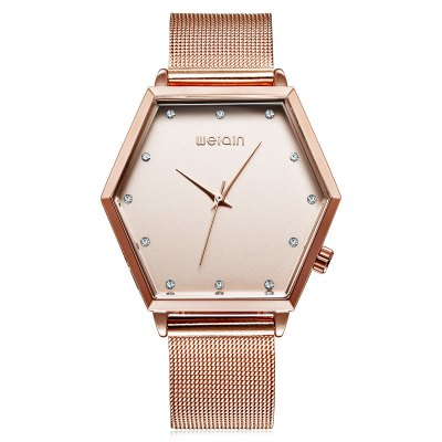 WeiQin 1185 Fashion Lady Quartz WatchWomens Watches<br>WeiQin 1185 Fashion Lady Quartz Watch<br><br>Band material: Stainless Steel<br>Band size: 23 x 1.8 cm / 9.06 x 0.71 inches<br>Brand: Weiqin<br>Case material: Alloy<br>Clasp type: Pin buckle<br>Dial size: 4 x 3.26 x 1 cm / 1.57 x 1.28 x 0.39 inches<br>Display type: Analog<br>Movement type: Quartz watch<br>Package Contents: 1 x WeiQin 1185 Fashion Lady Quartz Watch<br>Package size (L x W x H): 28.00 x 8.00 x 3.50 cm / 11.02 x 3.15 x 1.38 inches<br>Package weight: 0.118 kg<br>Product size (L x W x H): 23.00 x 4.00 x 1.00 cm / 9.06 x 1.57 x 0.39 inches<br>Product weight: 0.058 kg<br>Shape of the dial: Hexagon<br>Watch color: Gold, Rose Gold + White, Gold + White, Rose Gold, Silver<br>Watch style: Fashion<br>Watches categories: Female table<br>Water resistance : Life water resistant