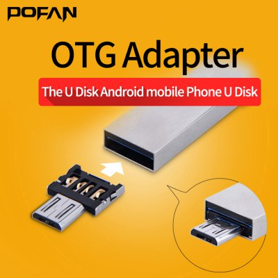 POFAN 2PCS USB 2.0 to Micro USB Adapter Connector